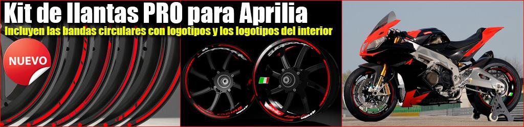Kit pro Aprilia Racing, Pegatinas y adhesivos en vinilo para el interior y el contorno de las llantas