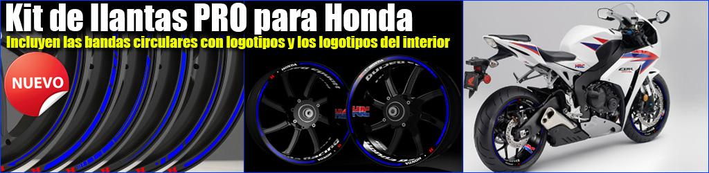 Pegatinas para llantas de moto Kit PRO Honda
