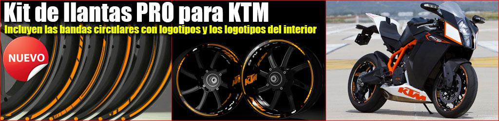 Pegatinas para llantas de KTM Kit PRO