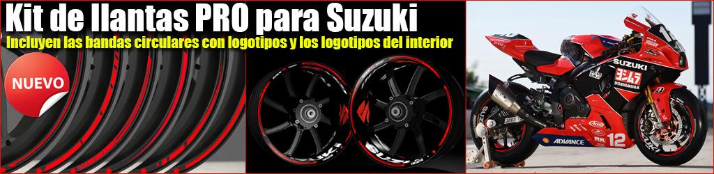 Pegatinas para llantas de Suzuki, Kit PRO, Racevinyl