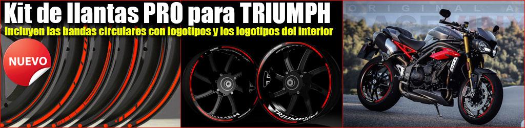 Pegatinas para llantas de Triumph, Kit PRO, Racevinyl