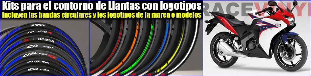Kits pegatinas para el perfil de llanta Honda