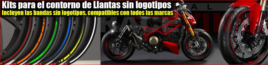 Kits Pegatinas para llantas de moto Universales