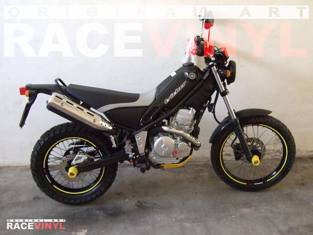 Yamaha Tricker 125 250 Racevinyl vinyl sticker stripes rim pegatina llanta rueda vinilo moto general