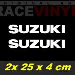 Pegatinas logo suzuki 25x4