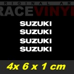 Pegatinas logo suzuki 6x1