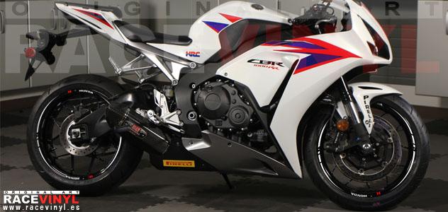 Honda CBR 1000 RR 2014 adhesivos vinilos pegatinas llanta rueda moto vinyl rim sticker stripe