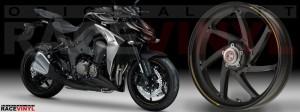 Racevinyl Kawasaki Z1000 ARROW pegatina vinilo llanta adhesivo rim sticker stripes wheel dorado