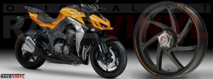 Racevinyl Kawasaki Z1000 ARROW pegatina vinilo llanta adhesivo rim sticker stripes wheel naranja