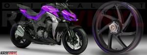 Racevinyl Kawasaki Z1000 ARROW pegatina vinilo llanta adhesivo rim sticker stripes wheel violeta