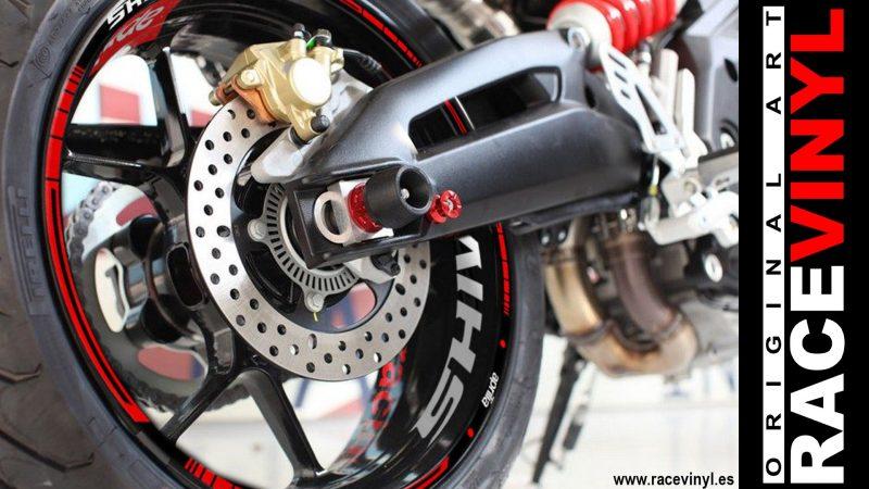 Aprilia Shiver 900 kit de pegatinas en vinilo adhesivo para llantas de moto rim sticker wheel