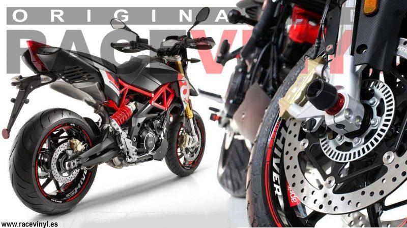 Aprilia Shiver 900 kit de pegatinas en vinilo adhesivo para llantas de moto rim sticker wheel tuning 02