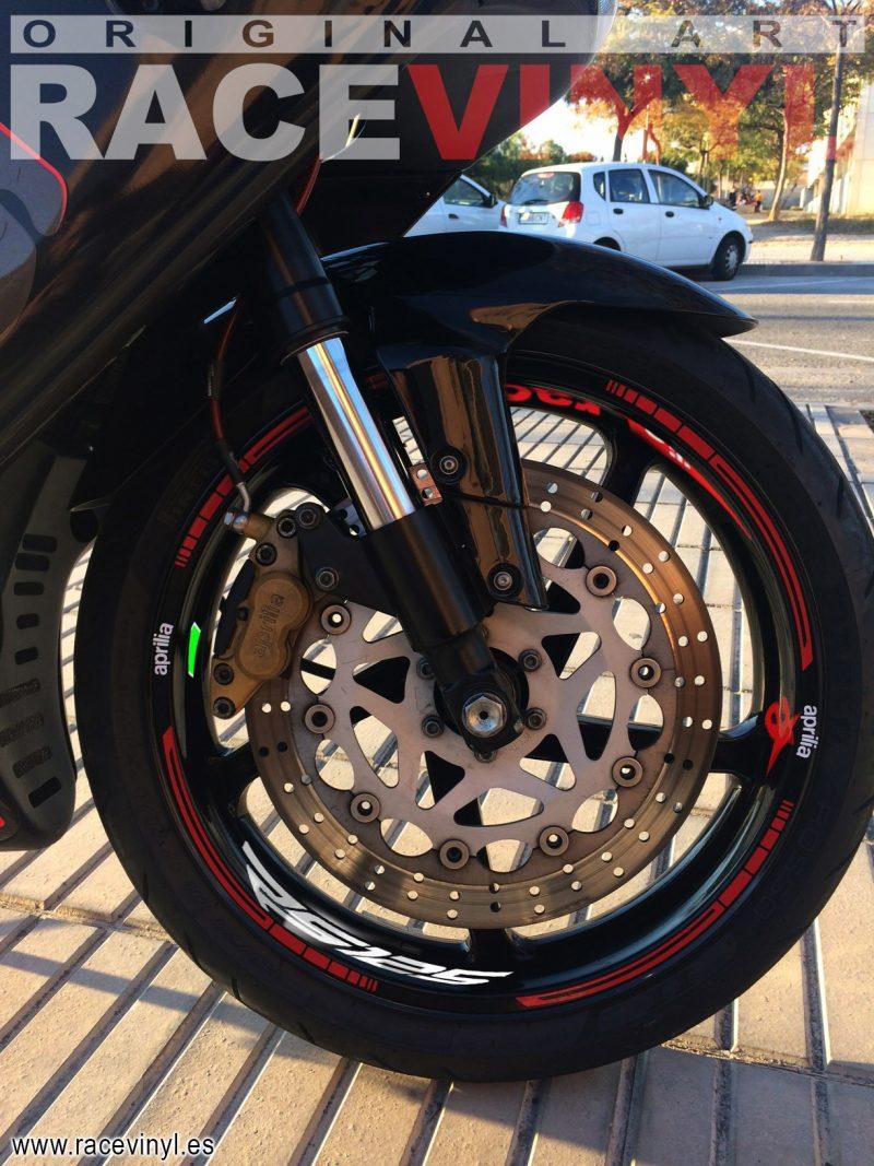 Aprilia rs 125 Kit PRO rojo logotipo Juan Alicante pegatinas vinilo adhesivo moto llanta rim sticker vinyl stripe 01 copia