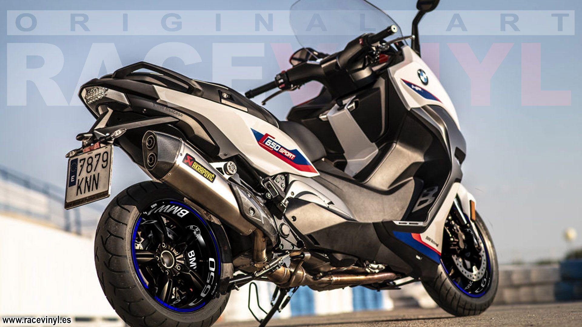 Kit PRO llantas BMW C650, adhesivos y vinilos para motos