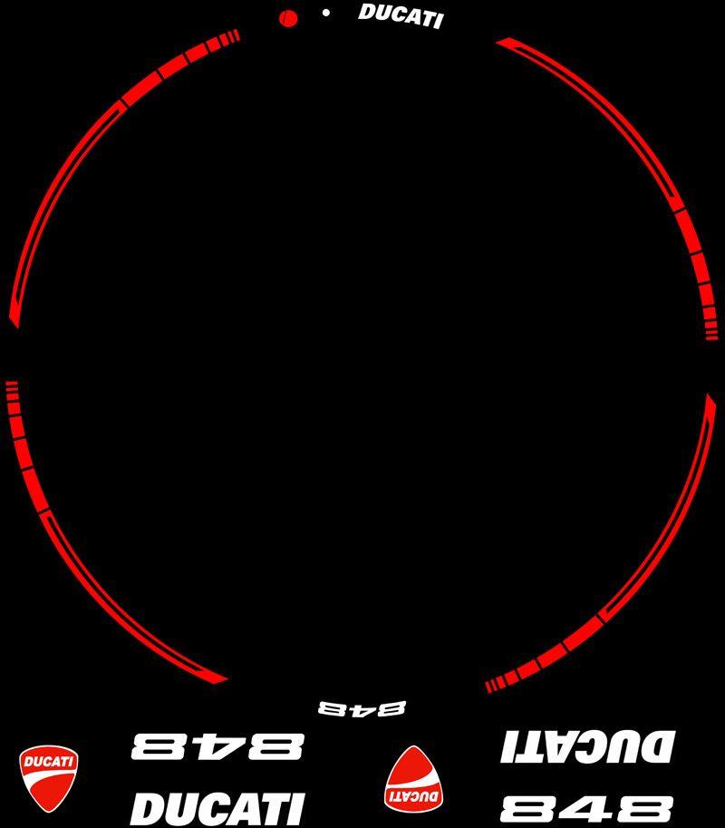 Contenido KIT PRo Ducati 848 evo vinilos pegatinas