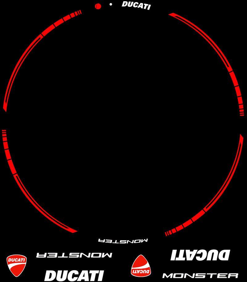 Contenido KIT Pro Ducati Monster pegatinas para llantas