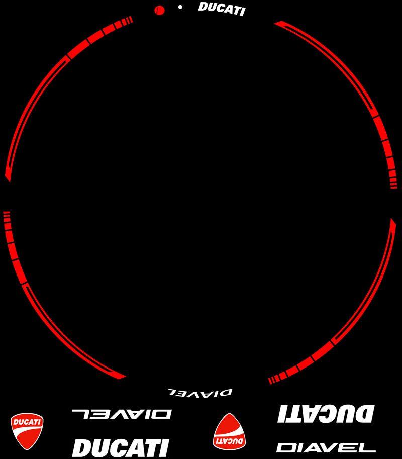 Contenido Kit PRO Ducati Diavel adhesivos interior y perfil