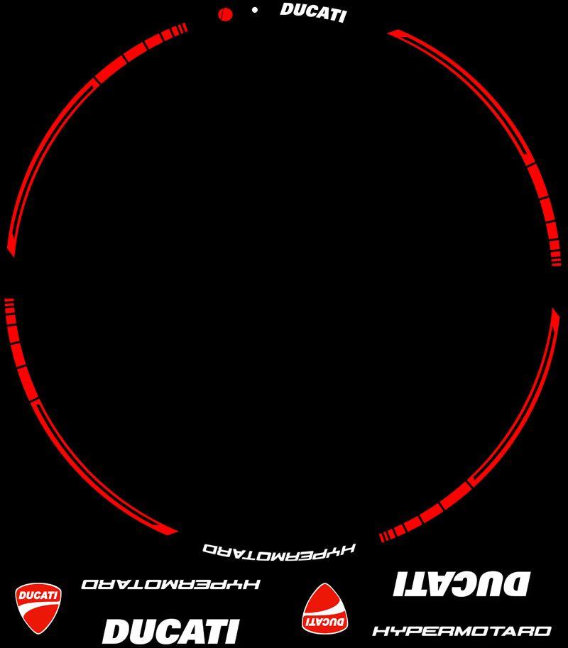 Contenido Kit PRO Ducati Hypermotard Adhesivos motos