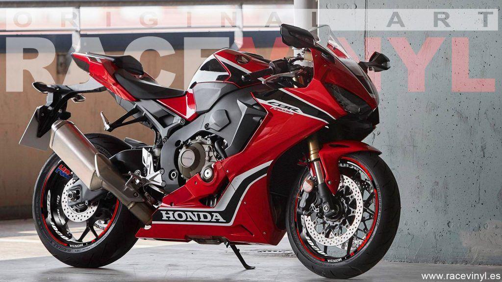 Honda CBR 1000RR pegatinas para llantas KIt PRO HRC Racing rojo