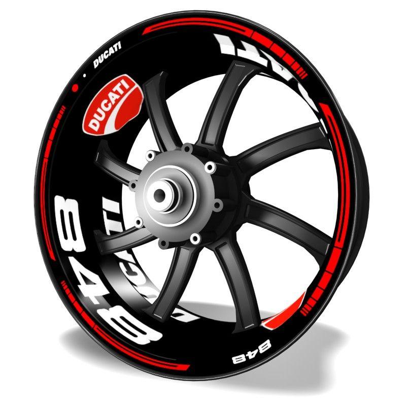 Kit PRO Ducati 848 pegatinas y vinilos para llantas de moto