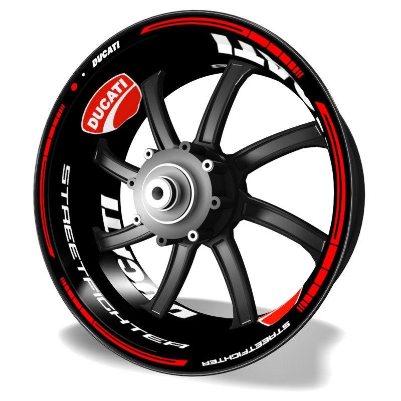 Kit PRO Ducati Streetfighter pegatinas y adhesivos para llantas de moto