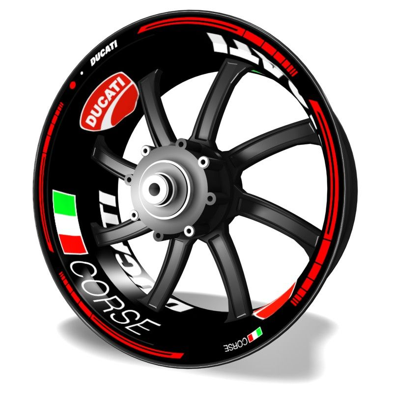 Pegatinas para llantas Kit PRO Ducati Corse vinilos para motos