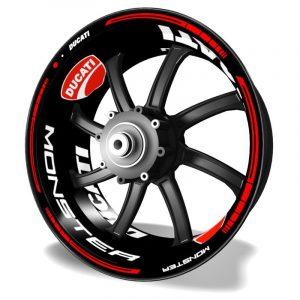 Pegatinas para motos Kit PRO Ducati Monster vinilos para llantas