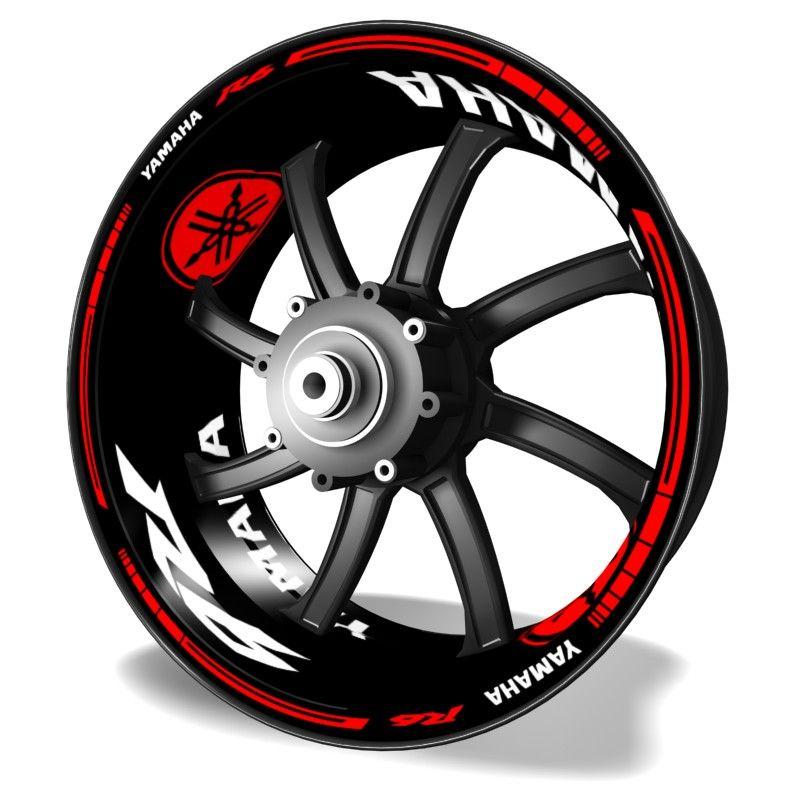 AMARILLO Pegatinas llantas ruedas de motos tiras adhesivas para rueda llantas pegatinas