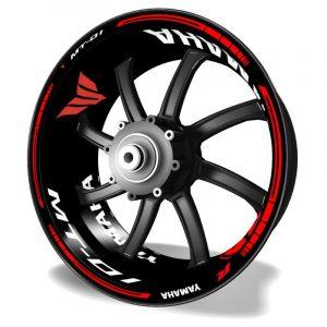 Adhesivos para motos Kit PRO vinilos de llantas Yamaha MT01