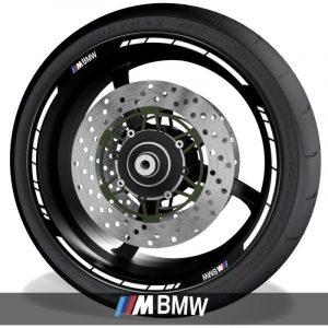 Vinilos de moto adhesivos para perfil de llantas con logo BMW M Motorsport speed
