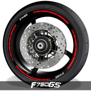 Adhesivos para perfil de llantas pegatinas de moto con logo BMW F750GS speed