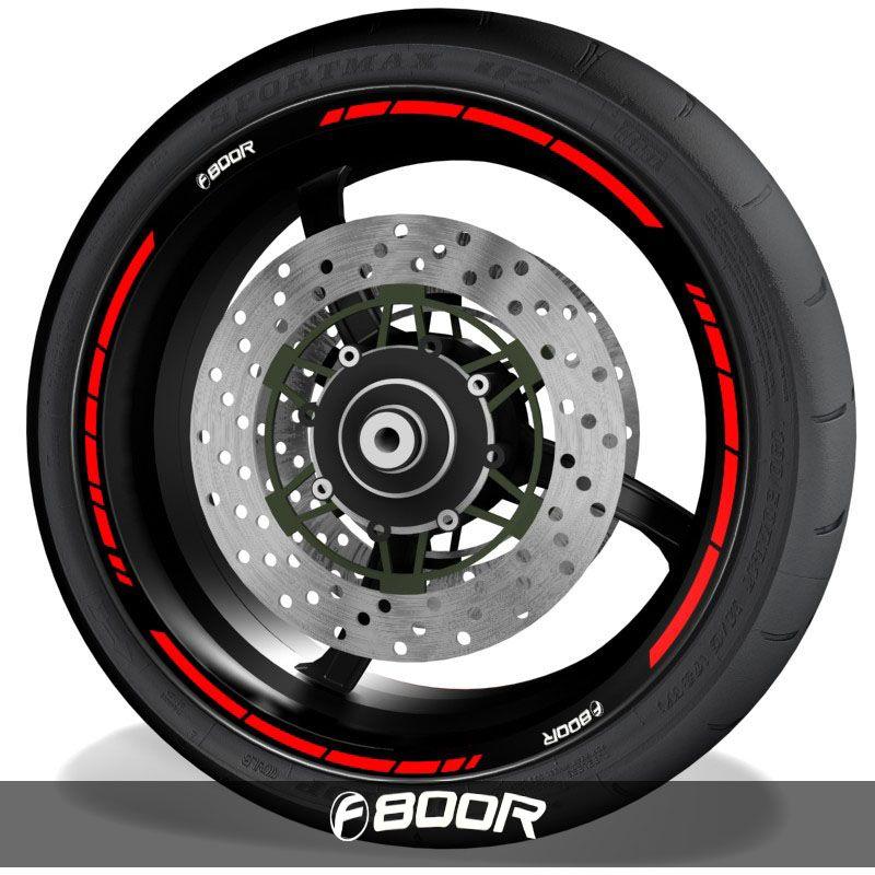 Pegatinas para perfil de llantas adhesivos de moto con logo BMW F800R speed