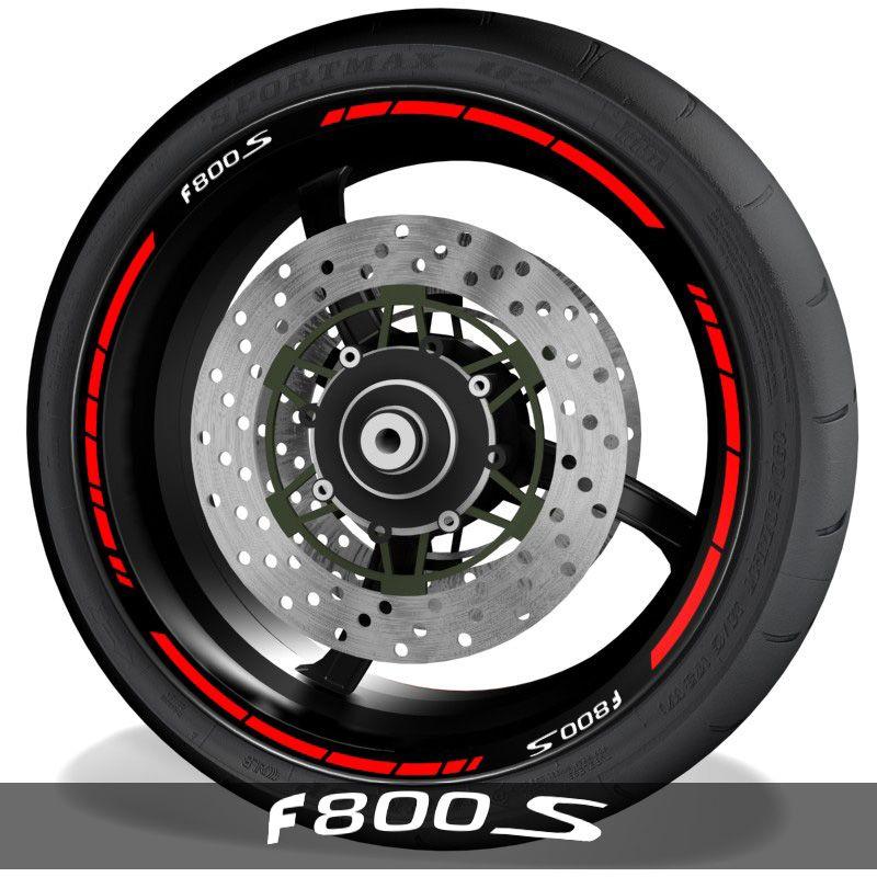 Adhesivos para perfil de llantas vinilos de moto con logo BMW F800S speed