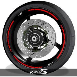 Vinilos para perfil de llantas adhesivos de moto con logo BMW K1300S speed