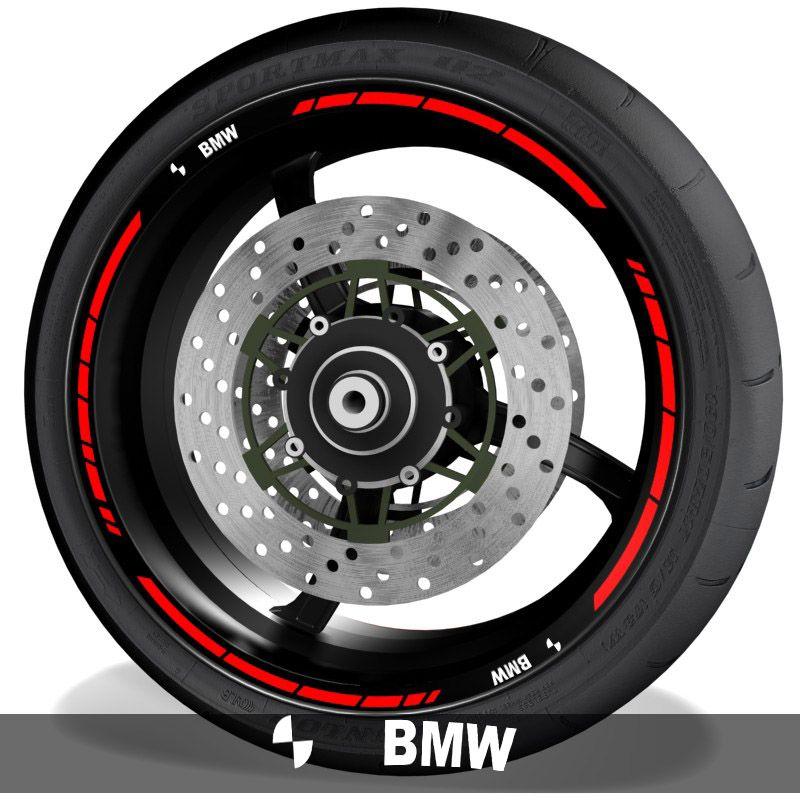 Pegatinas y adhesivos para perfil de llantas de moto con logo BMW Motorrad speed
