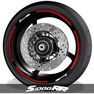 Adhesivos y pegatinas para perfil de llantas de moto con logo BMW S1000RR blade