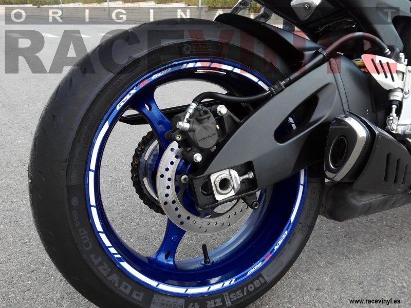 Racevinyl SUZUKI GSX R 600 02 1000 750 1300 R vinilo pegatina llanta rueda moto kit banda logo vinyl rim sticker adhesive bike motorcycle tuning stripes