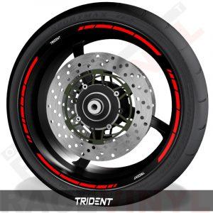 Pegatinas y vinilos adhesivos para el perfil de llantas Triumph Trident speed
