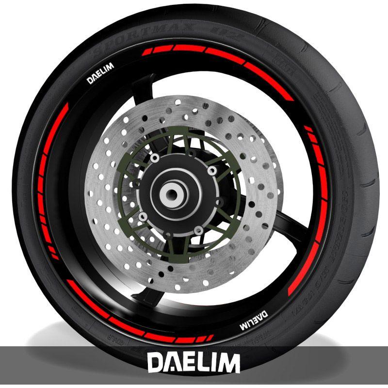 Vinilos de moto pegatinas para perfil de llantas con logo Daelim