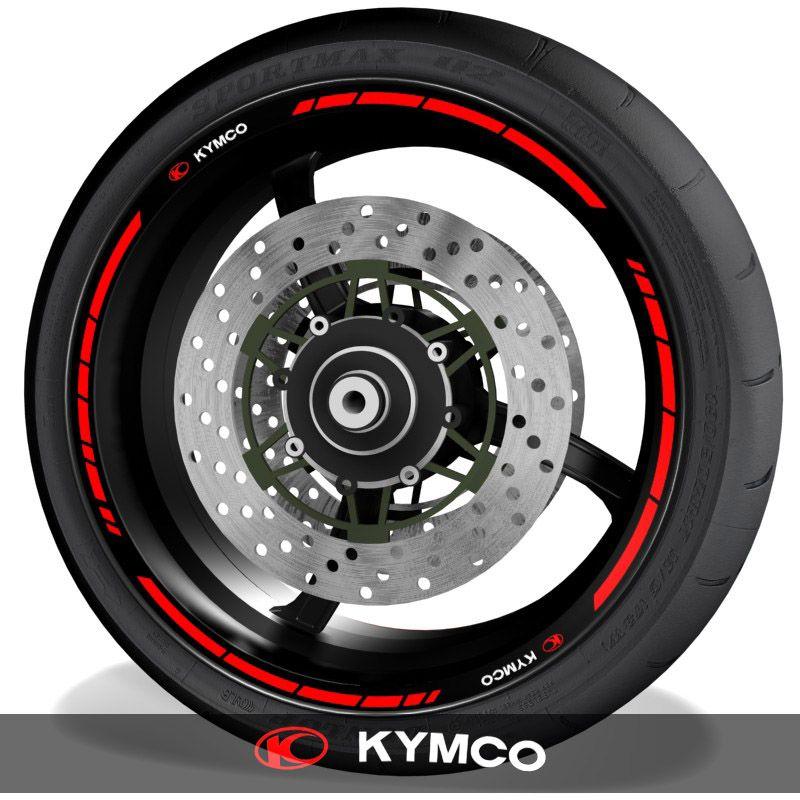 Pegatinas de moto vinilos para el perfil de llantas logo Kymco speed