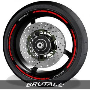 Vinilos de motos adhesivos para perfil de llantas logos MV Agusta Brutale speed