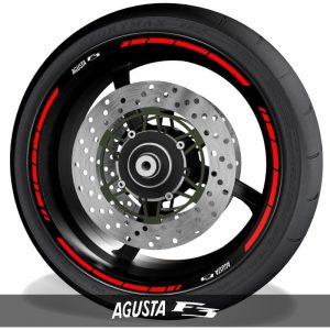 Adhesivos de motos vinilos para perfil de llantas logos MV Agusta F3 speed