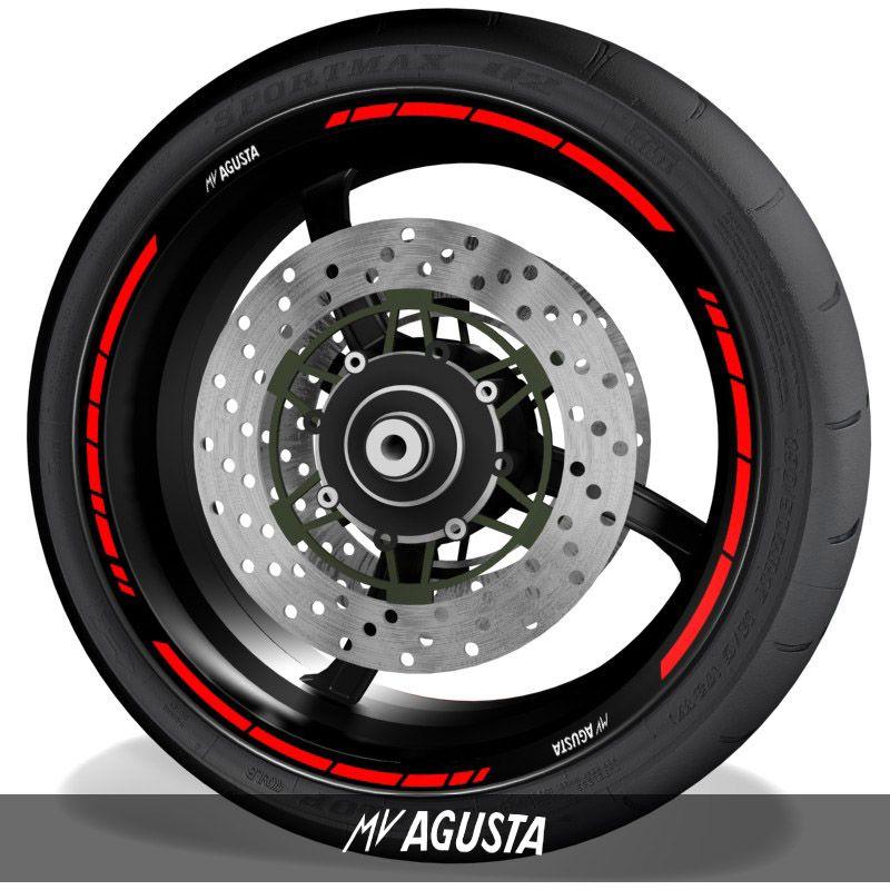 Adhesivos de motos pegatinas para perfil de llantas logos MV Agusta speed