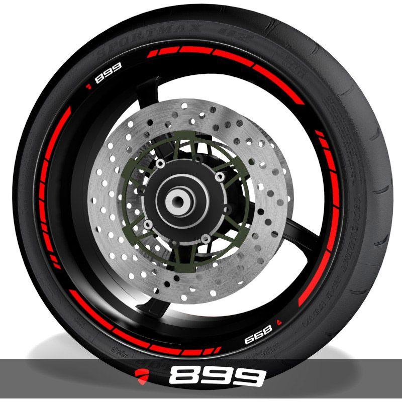 Vinilos para perfil de llantas pegatinas de moto con logo Ducati 899 speed