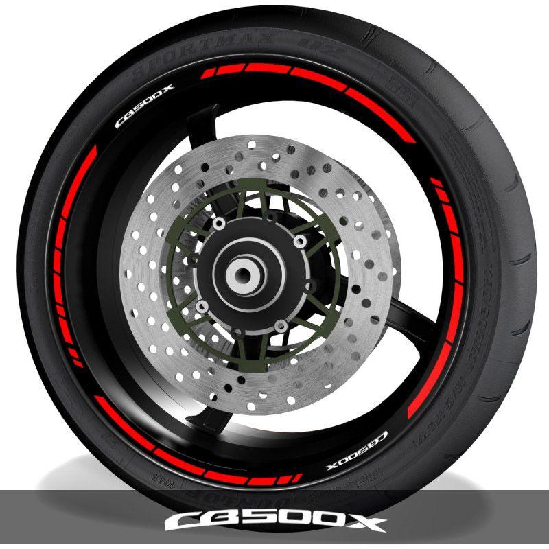 Vinilos para perfil de llantas de moto adhesivos logo Honda CB500X speed