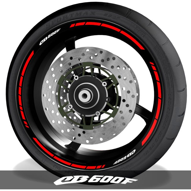 Pegatinas para perfil de llantas de moto vinilos logo Honda CB600F speed