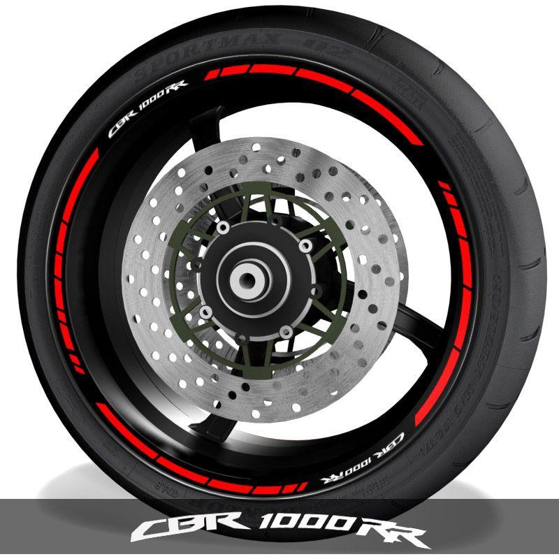 Pegatinas de moto adhesivos para perfil de llantas logo Honda CBR1000RR speed