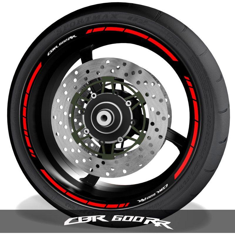 Adhesivos para perfil de llantas de moto vinilos logo Honda CBR600RR speed