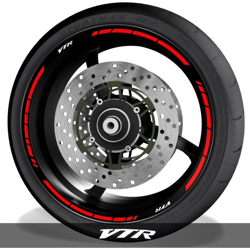Vinilos y adhesivos para perfil de llantas de moto logo Honda VTR speed