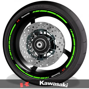 Adhesivos de moto pegatinas para perfil de llantas logo Kawasaki speed